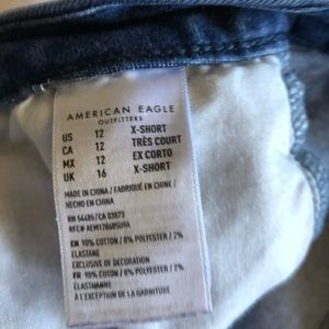 Women's AE Curvy High-rise Jeans. Size 12 X-Short